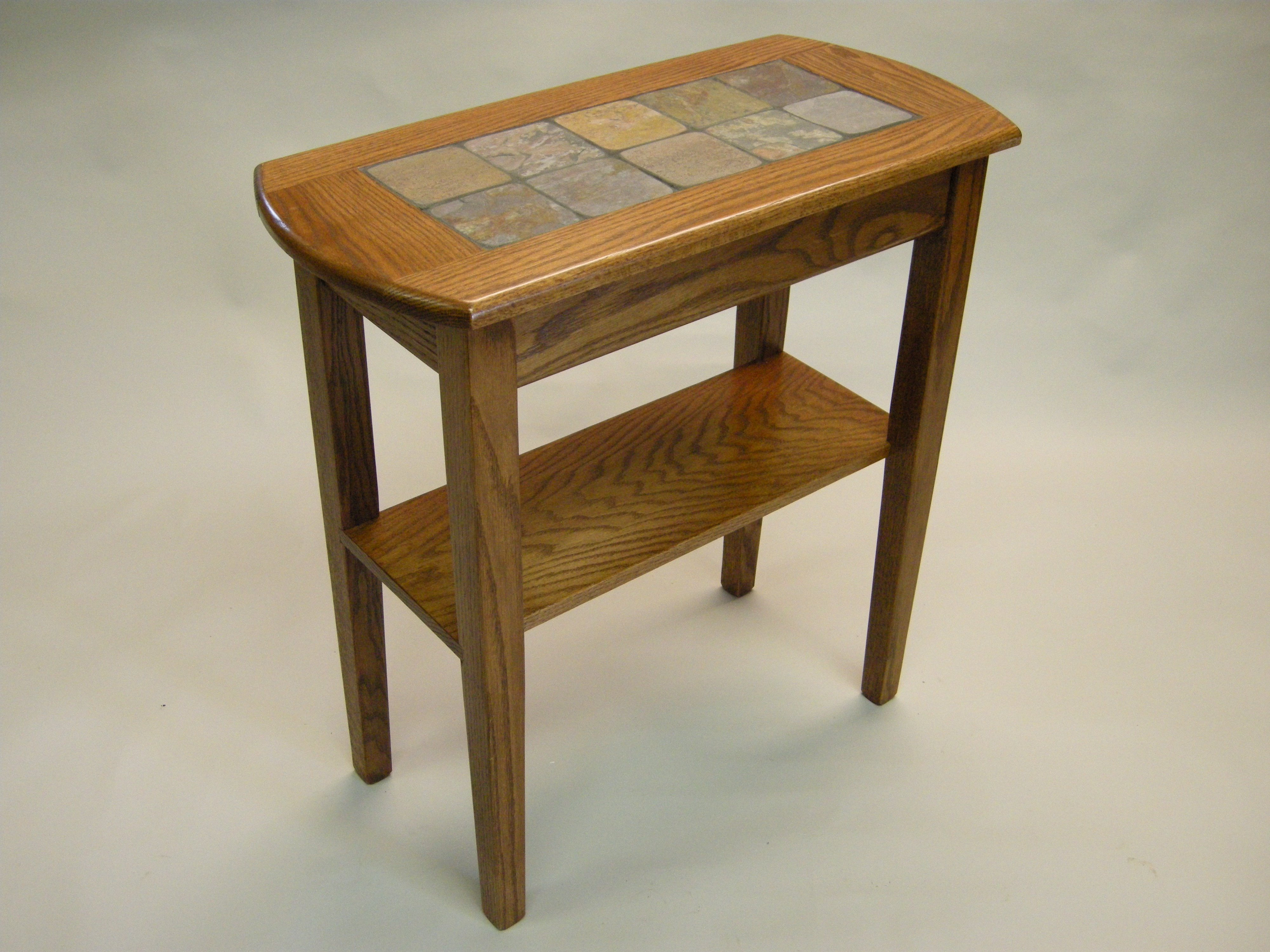 Foyer Table Oak : Slate tables
